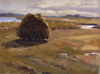 Hay Cock, Plum Island, MA, painting by Susan Jaworski-Stranc
