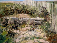 Dune Grass, painting by Daniel J. Shaw